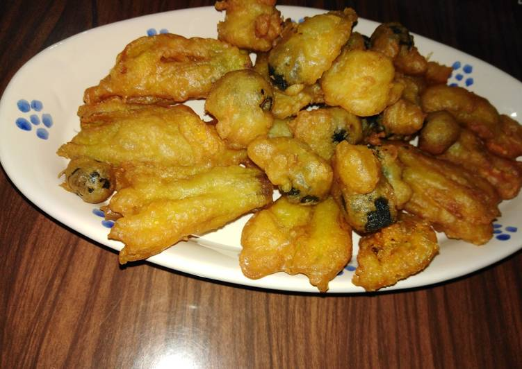 Pastella per fiori di zucchina e olive fritte