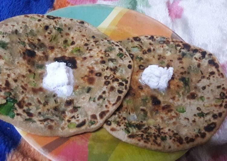 Green garlic Parantha