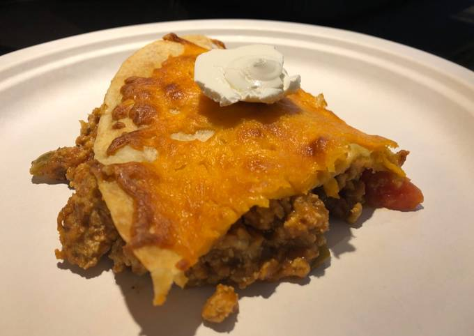 Recipe of Favorite Baked Turkey 🦃 Enchilada Pie 🥧