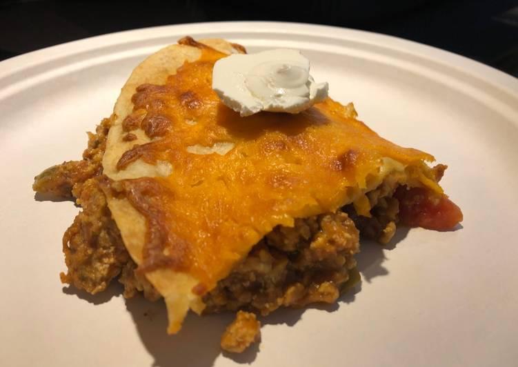 Baked Turkey 🦃 Enchilada Pie 🥧