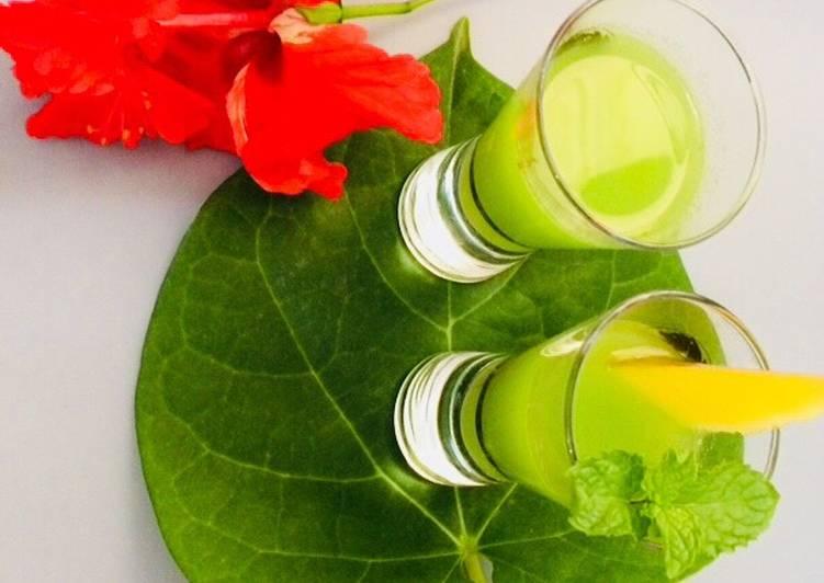 Recipe of Perfect Mango-mint and ijamet tulsi shorts