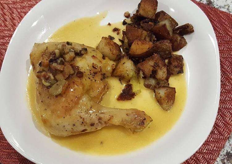 Saffron Chicken with olives