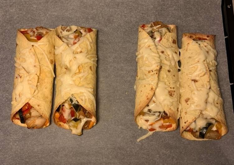 Leftovers put to good use: Crispy tortilla wraps