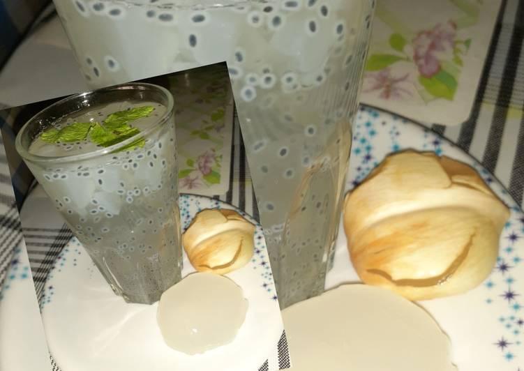 Ice apple, lemon sharbat