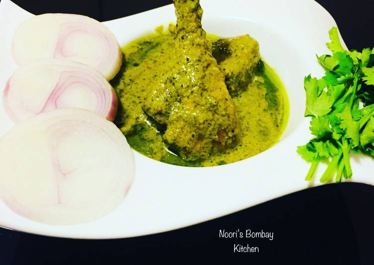 Easiest Way to Cook Delicious Green Korma   Green chicken