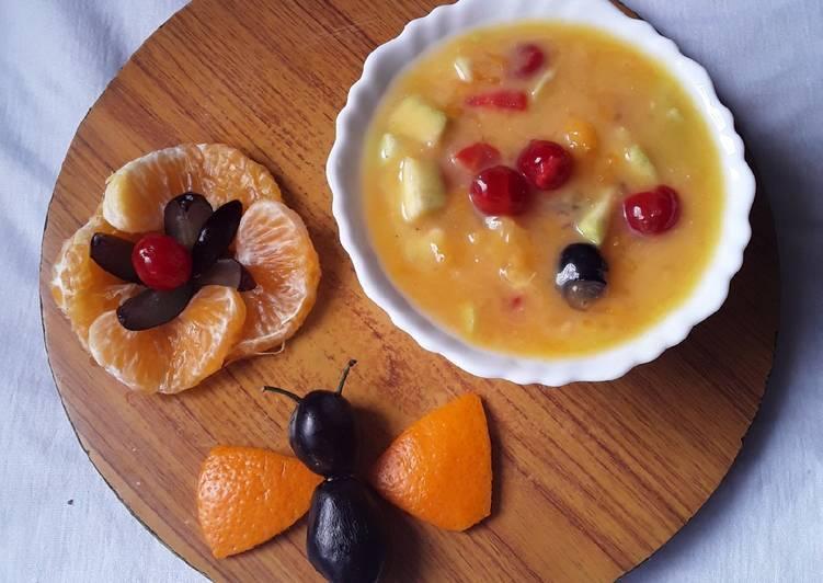 Grandmother's Dinner Easy Winter Sweet milky fruit pie