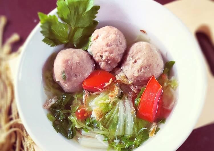 Sup Sawi Putih Bakso #97
