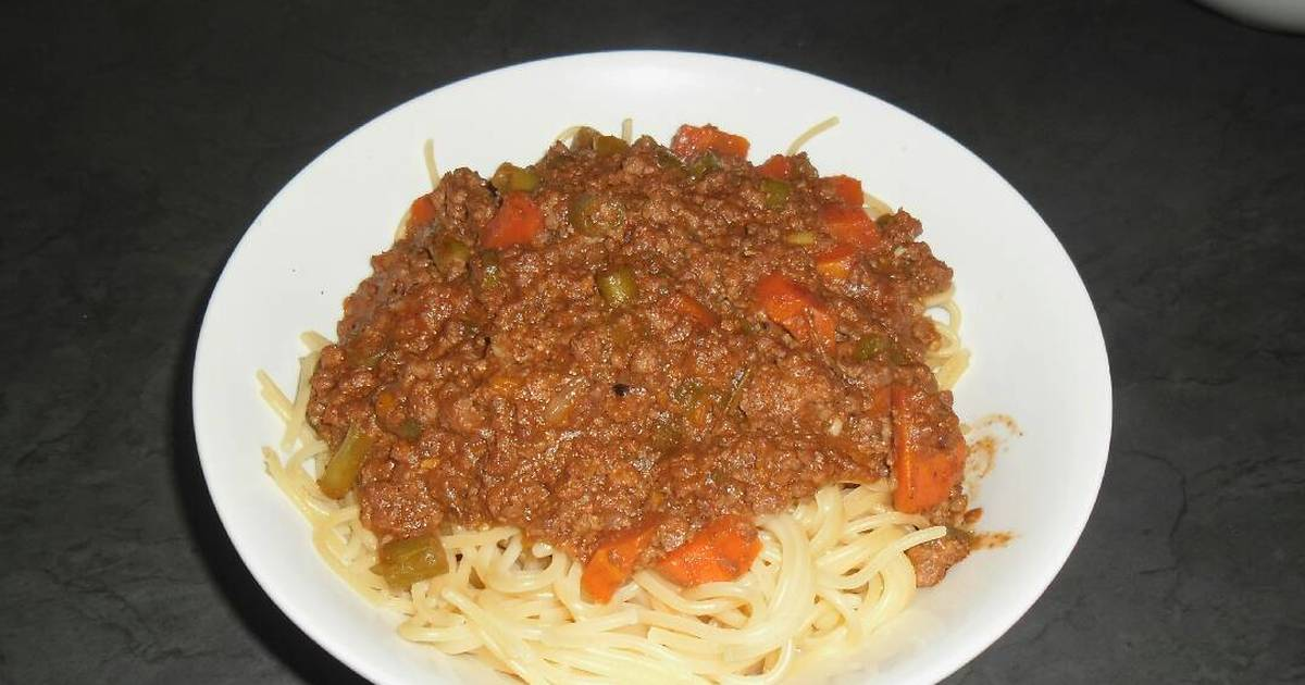 Spaghetti And Mince Recipe By Thulani Makhoba Cookpad