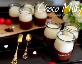 Choco Milky Silky Pudding a.k.a Silky puding coklat susu