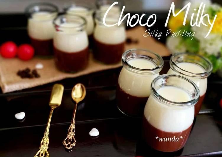 Choco Milky Silky Pudding a.k.a Silky puding coklat susu