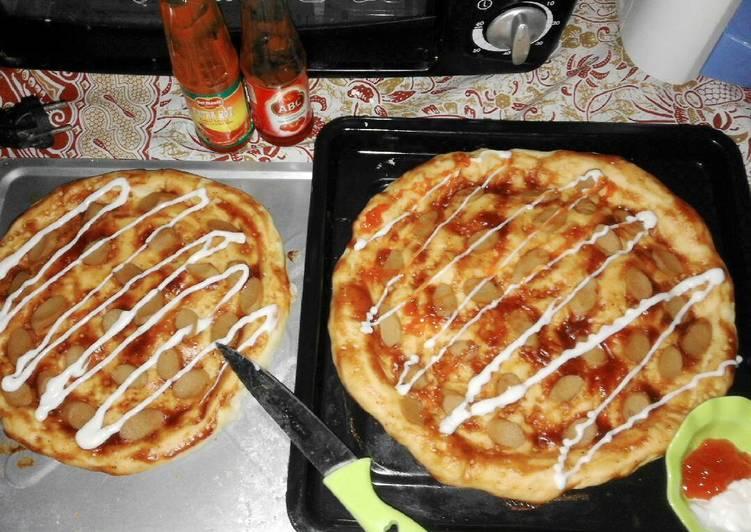Pizza sosis Enak