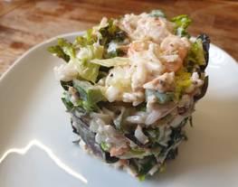 Ensalada de arroz con mayonesa de mostaza sin gluten