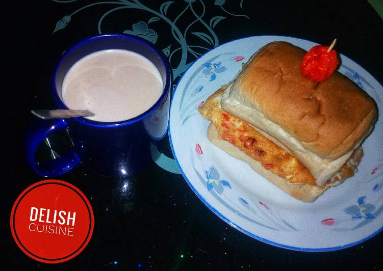 30 Minute Steps to Prepare Summer Egg sandwich and a cup of hot tea