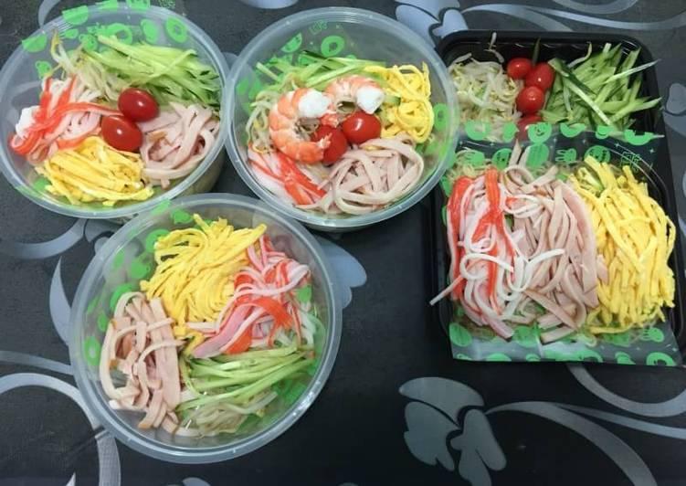Recipe: Appetizing Japanese Hiyashi Chuka Ramen