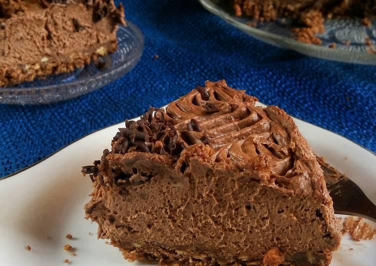 Unbaked Choco Cheesecake