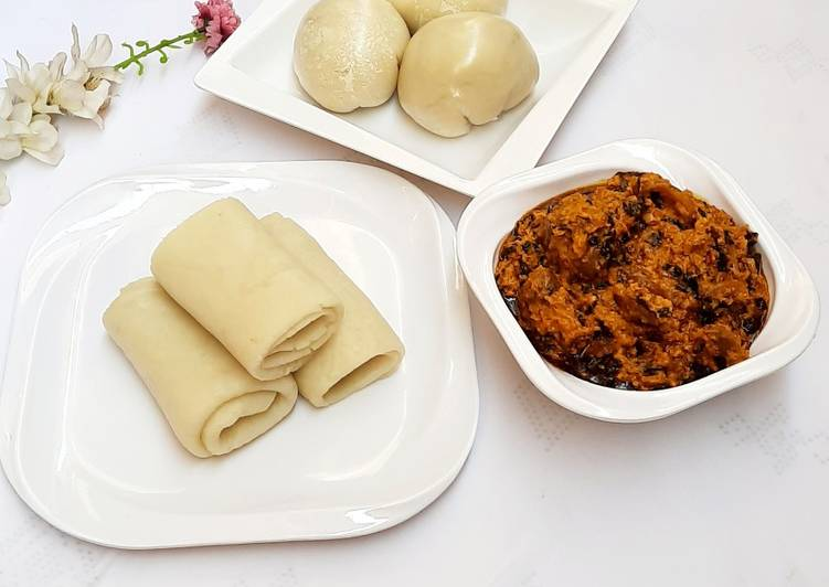 Steps to Make Perfect Pounded yam with egusi soup