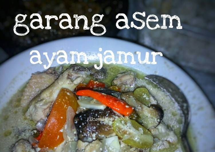 Resep Garang asem ayam jamur