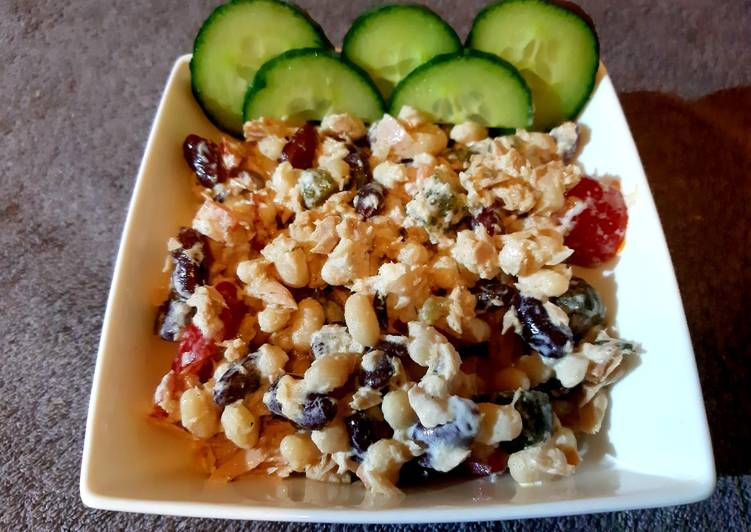 Recipe of Ultimate Tuna and cold bean mix
