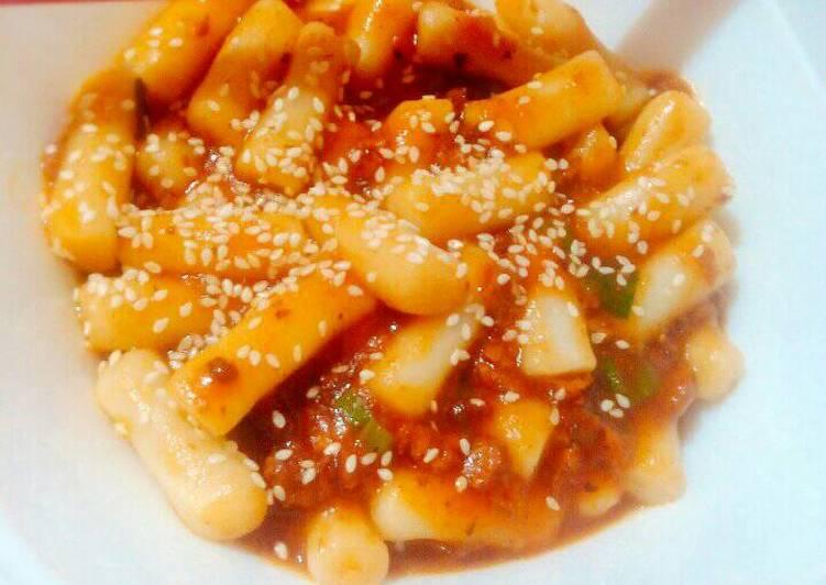 Resep Tteokbokki 떡볶이 Kue Beras Korea Oleh Melz
