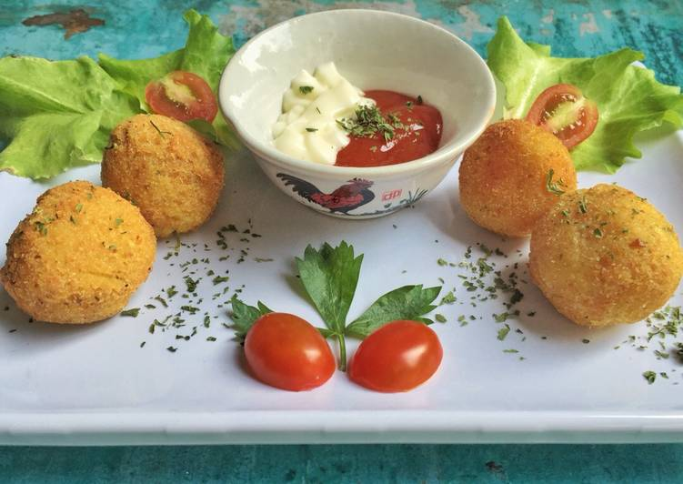 Bola kentang keju a.k.a potato cheese ball