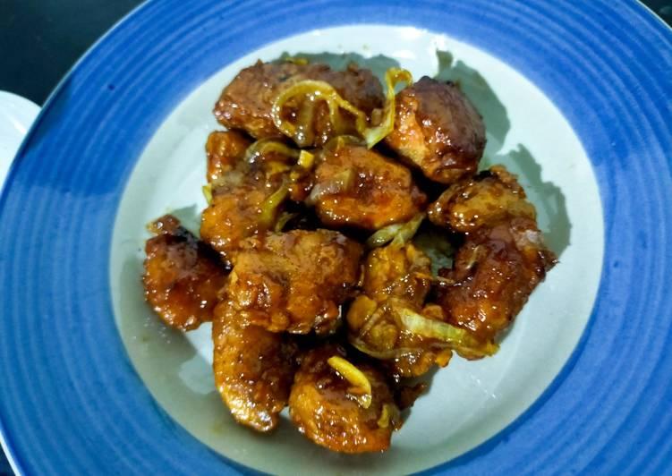 Ayam goreng saus madu