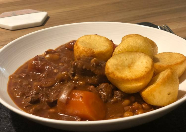 Filling beef stew