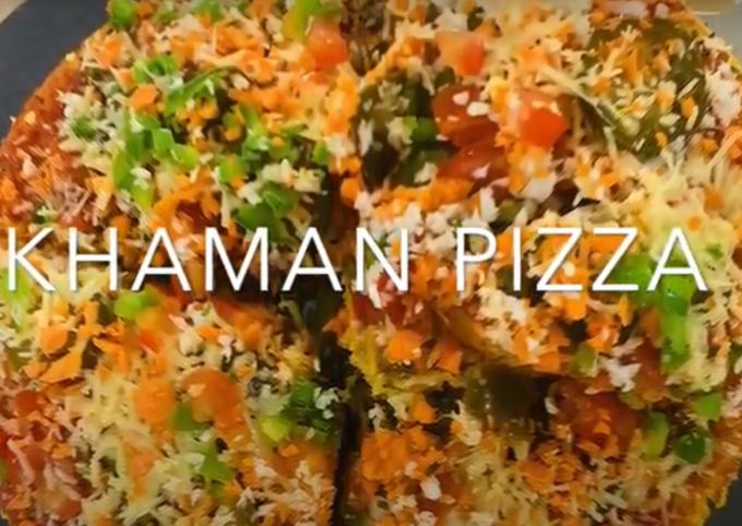 Recipe: Yummy Dhokla Pizza Recipe