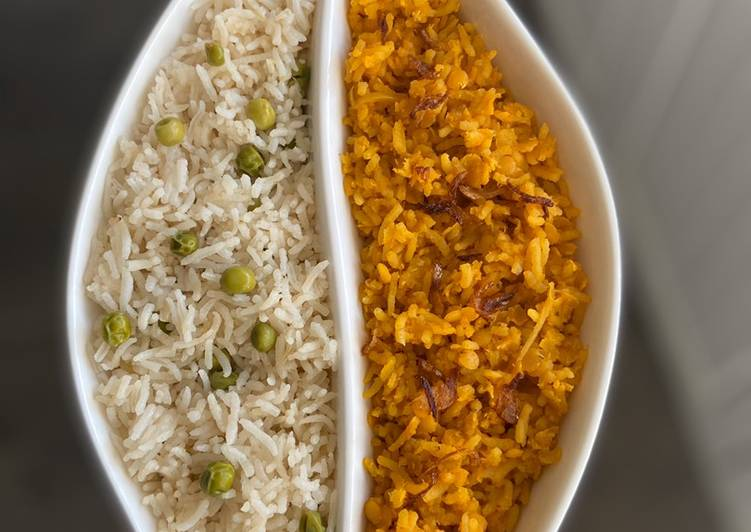 Peas Pilau & Khichuri (rice with red lentils) #myrendangisntcrispy