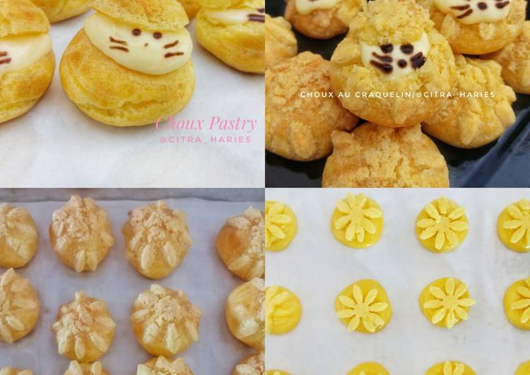 Resep Choux Pastry Choux Au Craquelin With Diplomat Cream Oleh Citra Haries Cookpad