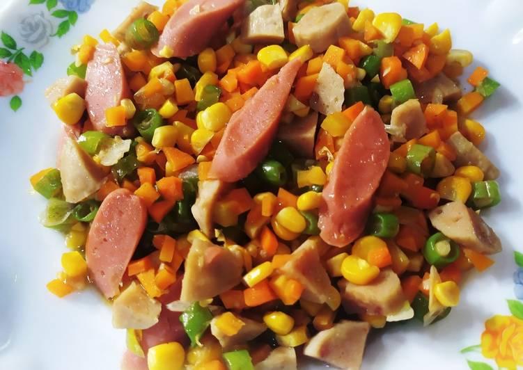 Tumis wortel buncis jagung