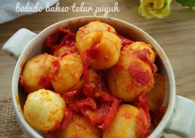 Cara Membuat Balado bakso telur puyuh (#pr_recookolahanbakso), Lezat Sekali
