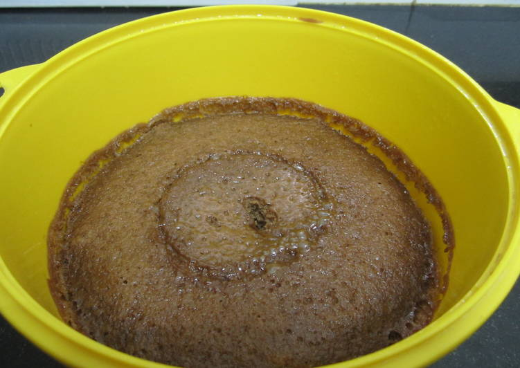 Eggless Choco-Coffee Cake (Microwave)