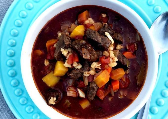 Fullblood Wagyu Beef and Barley Soup