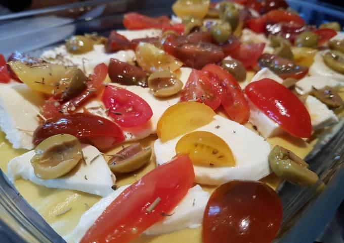 Lasagnes tomates-mozzarella