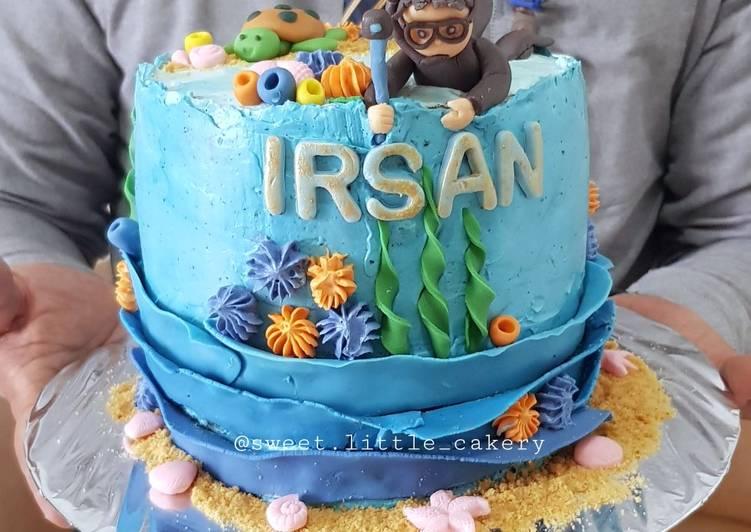 Kue Ulang tahun - (Chocolate Cake base)