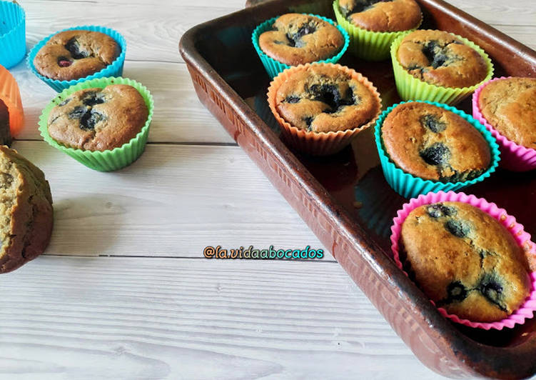 Muffins de Arándanos Starbucks Saludables