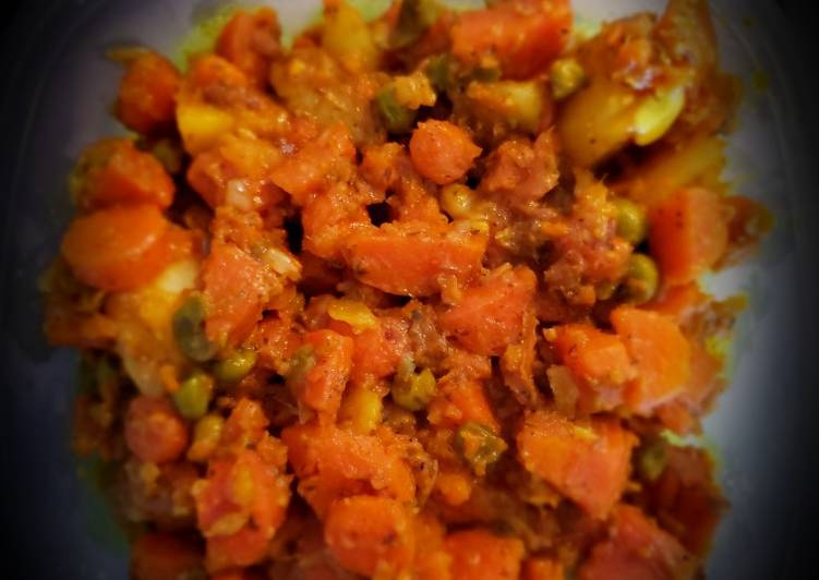 Healthy carrots peas