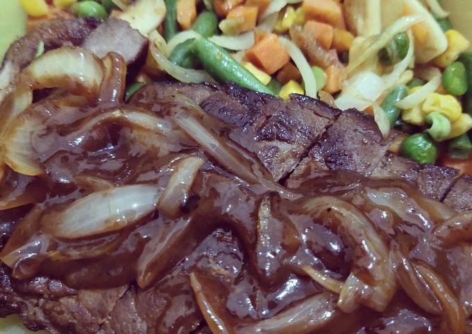 Sirloin Steak with Barbeque Sauce
