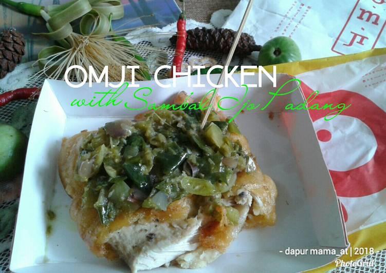 OMJi Chicken With Topping Sambel Ijo Padang