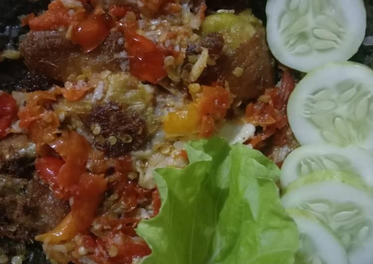 Ayam geprek sambal krosak by istri 😍
