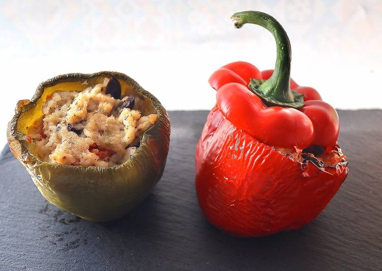 Recipe of Super Quick Homemade Seafood Stuffed Peppers