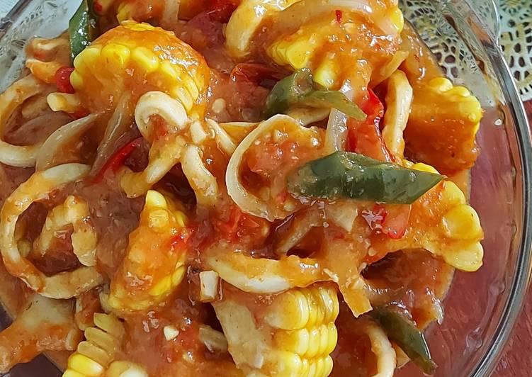 Cumi Seafood Saus Padang Simple