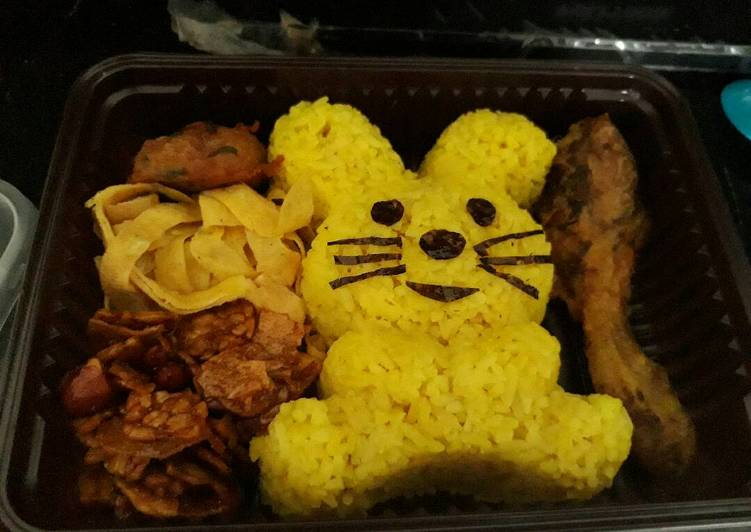 Resep Bento nasi kuning Enak Banget