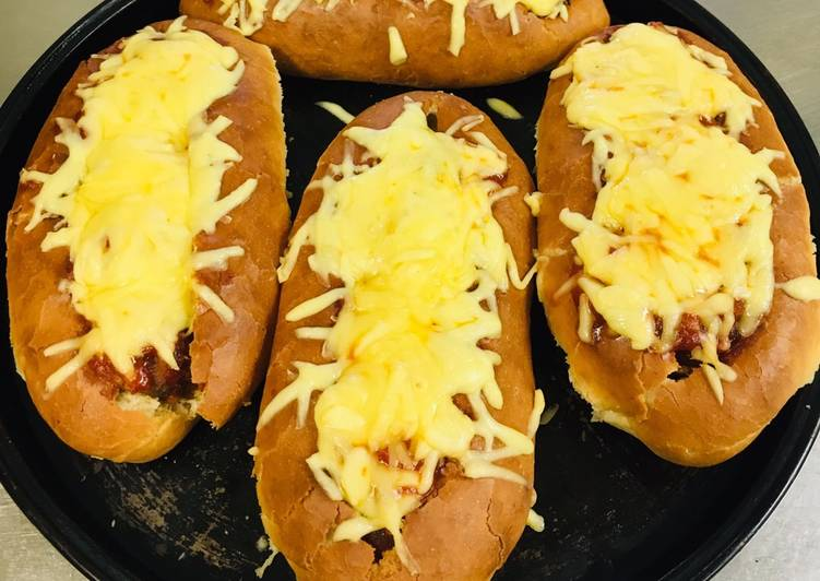 Resep Sandwich with meat balls and cheese ala Chef Turnip Paling Top