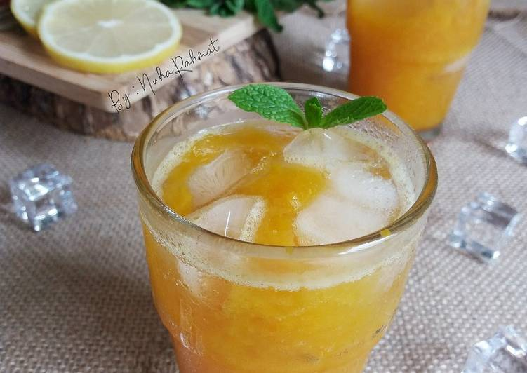 Air Teh Mangga #MaratonRaya #Minuman #Minggu2 - resepipouler.com