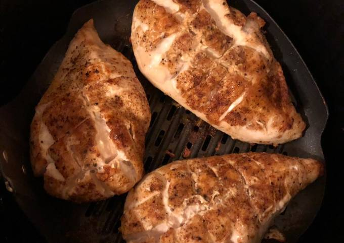 Air fried chicken breasts