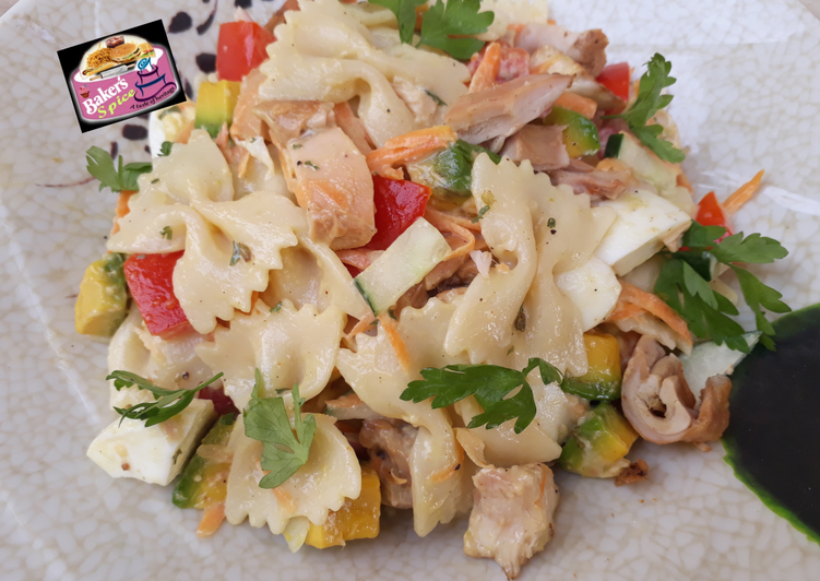 Recipe: Yummy Macaroni and Chicken Salad