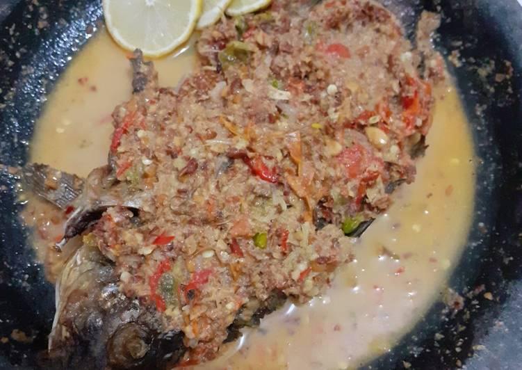 Resep Cobek ikan mas mantul🥰 Yang Gampang Bikin Nagih