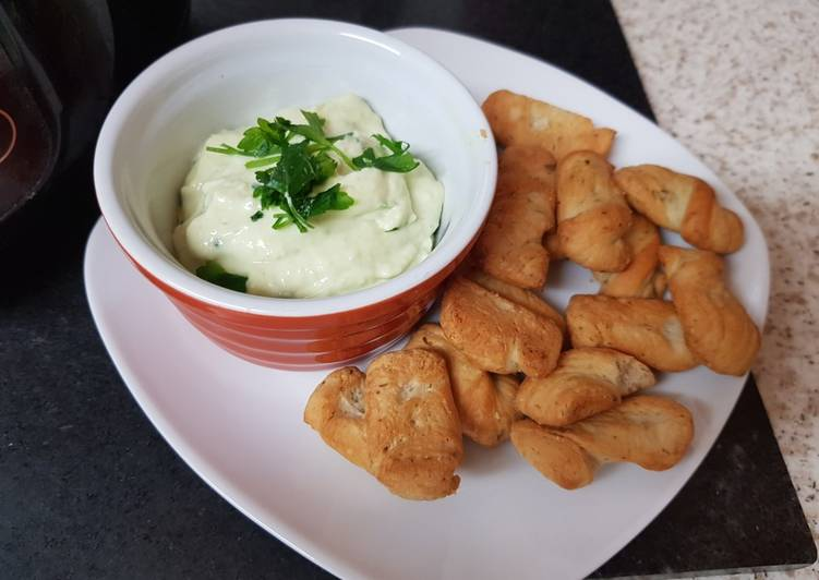 Recipe of Perfect My Cheese, Avocado + Chives Dip.💖