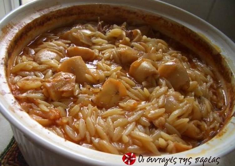Recipe of Any-night-of-the-week Kalamarakia giouvetsi